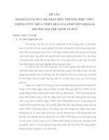 ĐÁNH GIÁ về mức độ NHẬN BIẾT THƯƠNG HIỆU VIỄN THÔNG VNPT THỪA THIÊN HUẾ của SINH VIÊN KHÓA 46 TRƯỜNG đại học KINH tế HUẾ