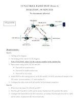 Tài liệu CCNA2 SKILL BASED TEST (Form A) pptx