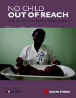 Tài liệu No Child out of Reach Time to end the health worker crisis docx
