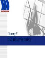 Tài liệu Bài giảng tin học ứng dụng: Chương IV - Các hàm tài chính pdf
