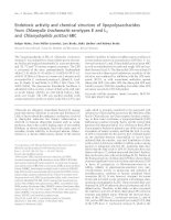 Tài liệu Báo cáo khoa học: Endotoxic activity and chemical structure of lipopolysaccharides from Chlamydia trachomatis serotypes E and L2 and Chlamydophila psittaci 6BC pdf
