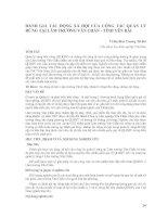 Tài liệu ĐÁNH GIÁ TÁC ĐỘNG XÃ HỘI CỦA CÔNG TÁC QUẢN LÝ RỪNG TẠI LÂM TRƯỜNG VĂN CHẤN - TỈNH YÊN BÁI doc