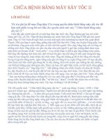 Tài liệu CHỮA BỆNH BẰNG MÁY SẤY TÓC II potx