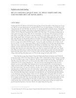 Tài liệu Nghiên cứu tình huống ĐỀ ÁN THÀNH LẬP QUỸ ĐẦU TƯ PHÁT TRIỂN ĐÔ THỊ THÀNH PHỐ HỒ CHÍ MINH (HIFU ppt