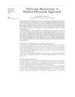 Tài liệu DEFINING MARKETING: A MARKET-ORIENTED APPROACH pptx