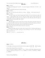Bộ đề thi học sinh giỏi toán lớp 8 tập  2