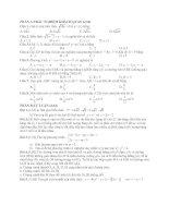 Tài liệu Đề Thi Thử Lớp 10 Toán Học 2013 - Phần 2 - Đề 11 docx