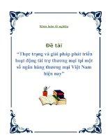 Thực trạng và giải pháp phát triển hoạt động tài trợ thương mại tại một số ngân hàng thương mại Việt Nam hiện nay