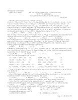 Tài liệu ĐỀ THI THỬ ĐẠI HỌC LÂN 2 NĂM 2012-2013 MÔN THI HOÁ HỌC doc