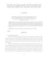 Thu hút và sử dụng nguồn vốn hỗ trợ phát triển chính thức (ODA) của australia cho việt nam