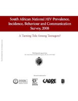 Tài liệu South African National HIV Prevalence, Incidence, Behaviour and Communication Survey, 2008 docx