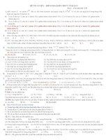 Tài liệu ĐỀ ÔN LUYỆN – KIỂM TRA KIẾN THỨC NĂM 2013 MÔN HÓA-Đề 6 ppt