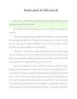 Tài liệu Hạnh phúc là biết cho đi pdf