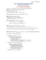 Các dạng toán liên quan đến khảo sát hàm số