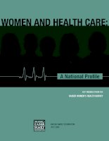 Tài liệu WOMEN AND HEALTH CARE: A NATIONAL PROFILE ppt