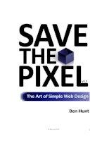 Tài liệu SAVE THE PIXEL THE ART OF SIMPLE WEB DESIGN doc