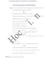 bài tập tương giao của đồ thị hàm số
