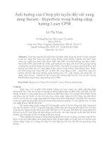 Ảnh hưởng của chirp phi tuyến đối với xung dạng secant   hyperbole trong buồng cộng hưởng laser CPM