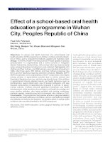 Tài liệu Effect of a school-based oral health education programme in Wuhan City, Peoples Republic of China ppt