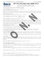ĐỀ THI THỬ ĐẠI HỌC NĂM 2014 Môn thi: TOÁN - đề 10