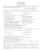 Tài liệu Đề Thi Đại Học Khối A, A1 Vật Lý 2013 - Phần 7 - Đề 1 ppt