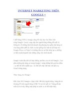 Tài liệu INTERNET MARKETING TRÊN GOOGLE + docx