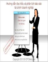 Tài liệu Hướng dẫn đọc hiểu và phân tích báo cáo tài chính doanh nghiệp ppt
