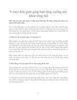 Tài liệu 9 mẹo đơn giản giúp bạn tăng cường sức khỏe tổng thể pdf