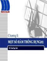 Tài liệu Bài giảng tin học ứng dụng: Chương I - Một số hàm thông dụng (tt) pptx