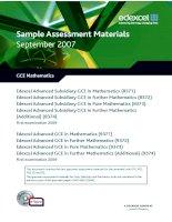 Tài liệu Sample Assessment Materials September 2007 docx