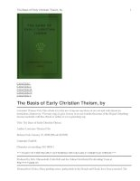 Tài liệu The Basis of Early Christian Theism ppt