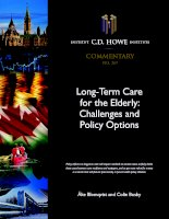 Tài liệu Long-Term Care for the Elderly: Challenges and Policy Options pptx