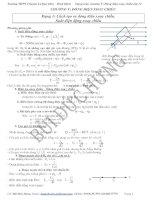 Dạng toán trong dòng điện xoay chiều ôn thi đại học