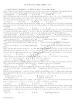 Tài liệu Đề Thi Thử Đại Học Khối A Vật Lý 2013 - Đề 34 pdf