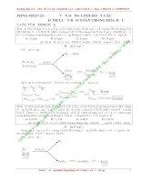 Vận dụng linh hoạt các định luật bảo toàn trong hóa học