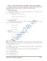 Tài liệu BÀI 7: CÁC BÀI TOÁN VỀ DIỆN TÍCH CÁC HÌNH pdf