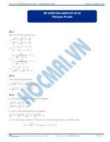 Đề kiểm tra định kỳ số 2 - 2013 - môn Toán