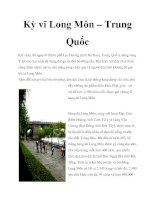 Tài liệu Kỳ vĩ Long Môn – Trung Quốc doc