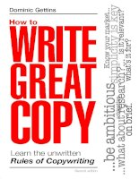 Tài liệu HOW TO WRITE GREAT COPY ppt