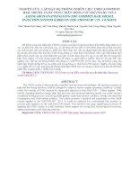 Tài liệu NGHIÊN CỨU, LẮP ĐẶT HỆ THỐNG NHIÊN LIỆU CRDI (COMMON RAIL DIESEL INJECTION) TRÊN ĐỘNG CƠ VIKYNO RV 125-2 pot
