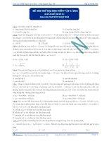 Đáp án đề thi thử đại học môn vật lý lần 1 - 2013 - Thầy Hải