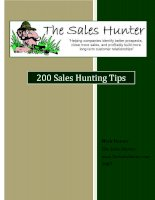 Tài liệu 200 Sales Hunting Tips pdf