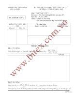 Tài liệu Đề thi học sinh giỏi toán THPT trên máy tính cầm tay tỉnh Quảng Ngải năm 2009 potx
