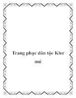 Tài liệu Trang phục dân tộc Khơ mú potx