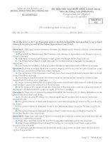 Đề thi thử đại học lần 1 - 2014 môn Anh Văn THPT Lương Thế Vinh Hà Nội