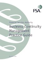 Tài liệu Financial Services Authority Business Continuity Management Practice Guide pptx