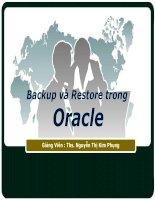 Tài liệu Backup and Restore in Oracle pdf