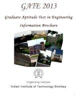 Tài liệu Graduate Aptitude Test in Engineering Information Brochure 2013 ppt
