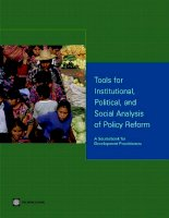 Tài liệu tools for institutional political and social analysis of policy reform pptx