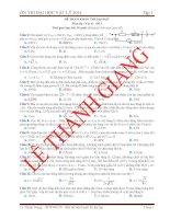 Luyện Thi Đại Học Vật Lý có đáp án giải chi tiết- đề 6